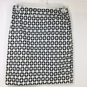 Cynthia Rowley black and white pencil skirt size 6